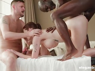 hot milf just got fucked by two masseuses