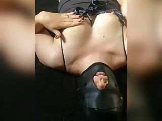owned submissive masturbates to orgasm