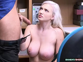 shoplifter emily right gets her tight pussy rammed by officers huge cock